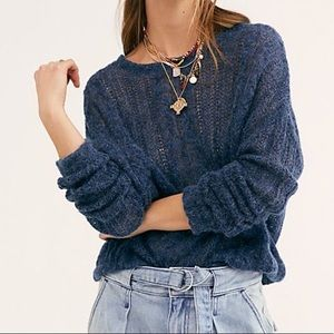 FREE PEOPLE NWT Angel Soft Sweater Navy